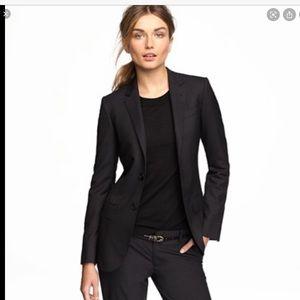 J Crew Ludlow Italian Wool Black Blazer Size 6